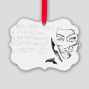 Anonymous 99% Occupy t-shirt Picture Ornament